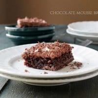 Chocolate Mousse Brownies @diethood | www.diethood.com | #brownies #chocolate #recipe #dessert