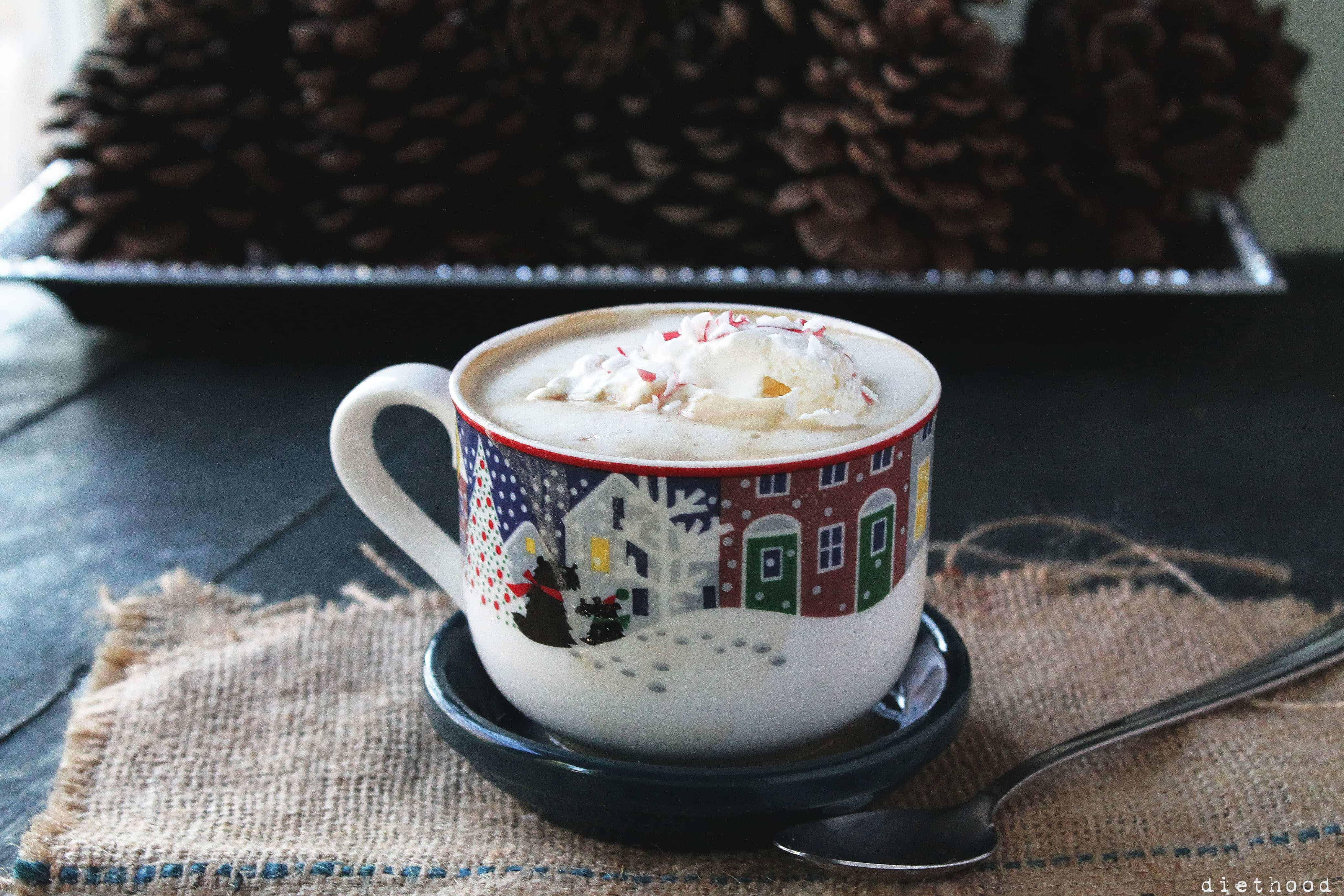 Peppermint White Chocolate Mocha Latte