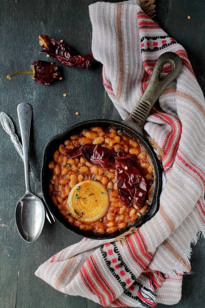 Macedonian Style Baked Beans {Tavce Gravce} via www.diethood.com | #recipe #dinner #beans #tavcegravce