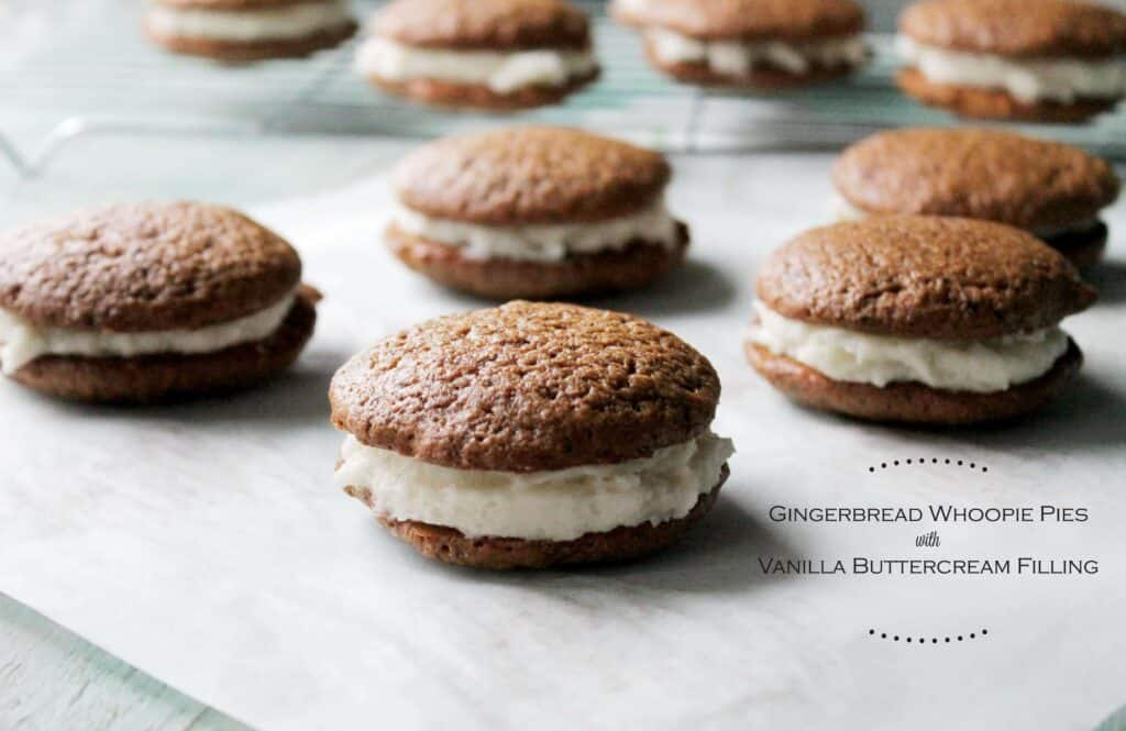 ... 1024x665 Gingerbread Whoopie Pies with Vanilla Buttercream Filling