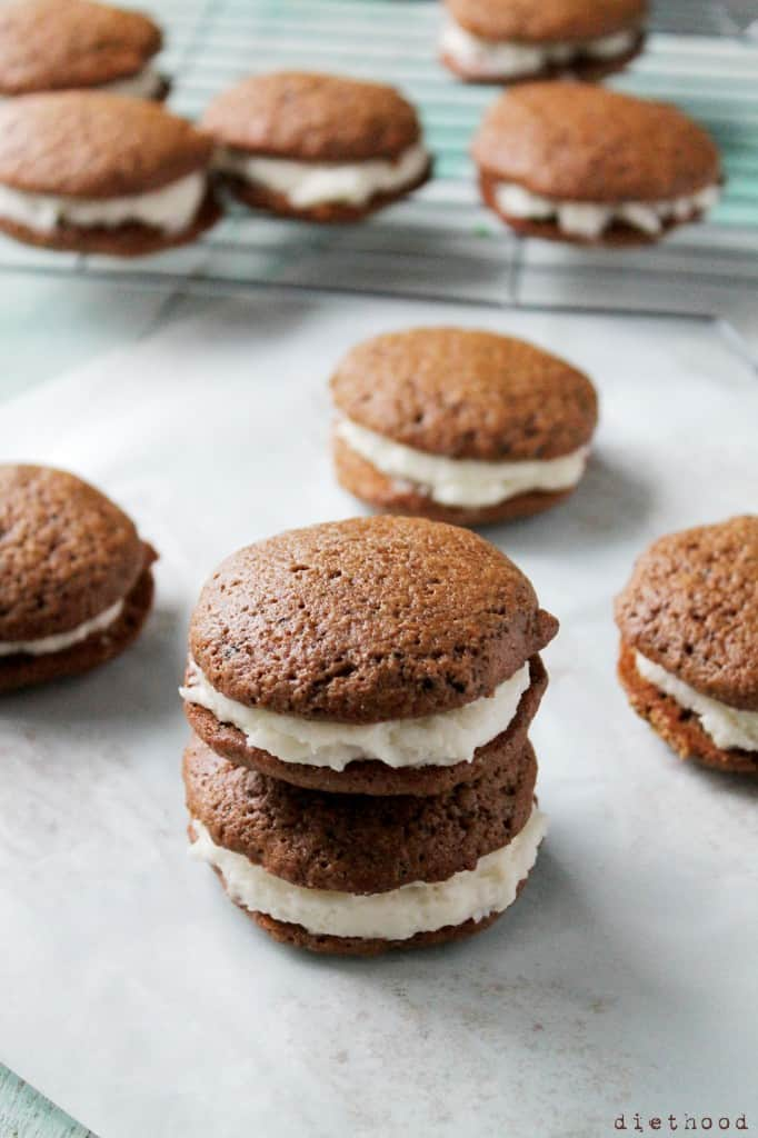 ... 682x1024 Gingerbread Whoopie Pies with Vanilla Buttercream Filling