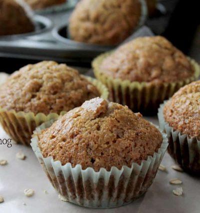 Oatmeal Eggnog Muffins | www.diethood.com |