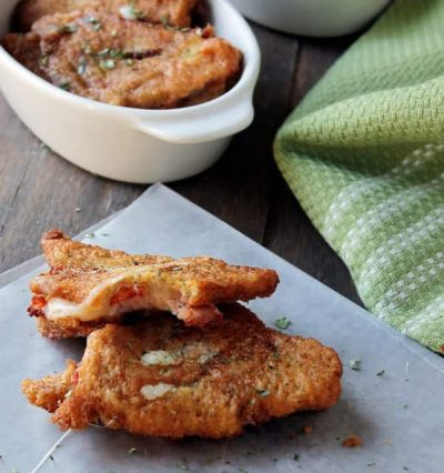 Fried Pizza Sandwiches | www.diethood.com | #recipe #sandwich #pizza #superbowl @diethood