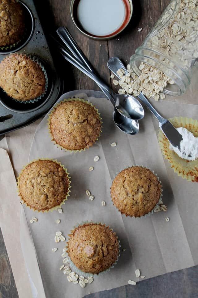 Oatmeal Eggnog Muffins @diethood