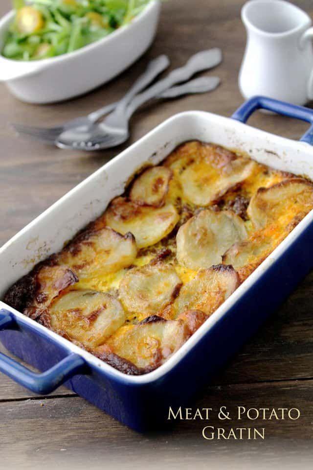 Meat and Potato Gratin | www.diethood.com