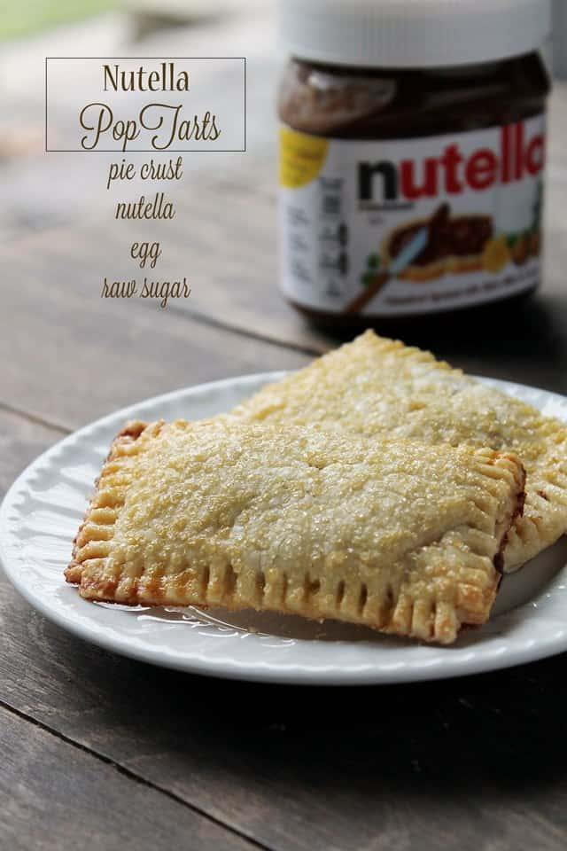 Nutella Pop Tarts | www.diethood.com | #recipe #poptarts #nutella #breakfast