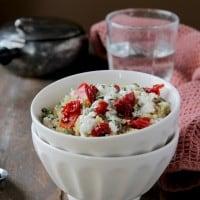 Quinoa with Sun Dried Tomatoes and Feta | www.diethood.com | #quinoarecipes #sundriedtomatoes #feta #quinoa