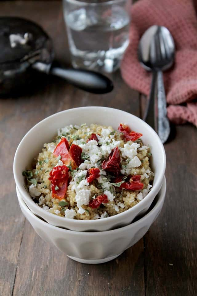 quinoasized Quinoa with Sun Dried Tomatoes and Feta