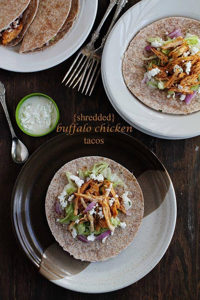 tacos 2 titlewp Savory Sundays: Shredded Buffalo Chicken Tacos