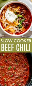 SLOW COOKER BEEF CHILI PIN IMAGE