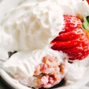 Mug Cake with Strawberries