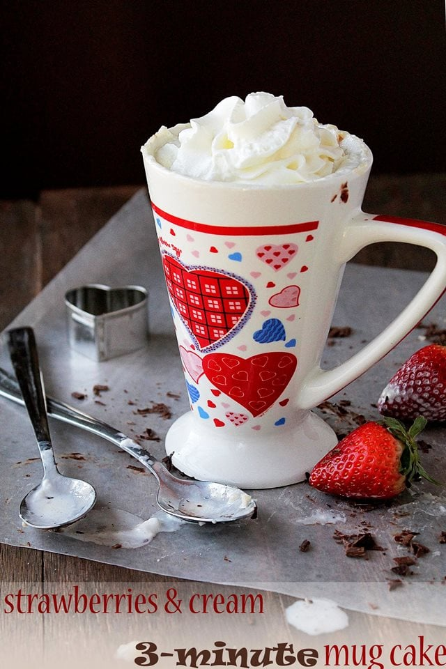 mug cake wp #TopChef Recap + Strawberries and Cream 3 Minute Mug Cake