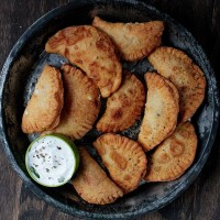 Pierogies with Spicy Feta Filling | www.diethood.com | 2-ingredient, Deep-Fried Pierogies filled with a Spicy Feta Filling | #recipe #pierogies #appetizers #fingerfood