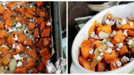 Sweet Potato Hash with Onions and Feta | www.diethood.com | Roasted sweet potatoes with onions and feta cheese | #recipe #sweetpotatoes #dinner #feta