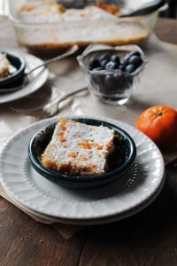 Clementine Bars | www.diethood.com | Delicious, chewy, sweet, aromatic Clementine Bars with graham cracker crust | #recipe #dessert #clementines