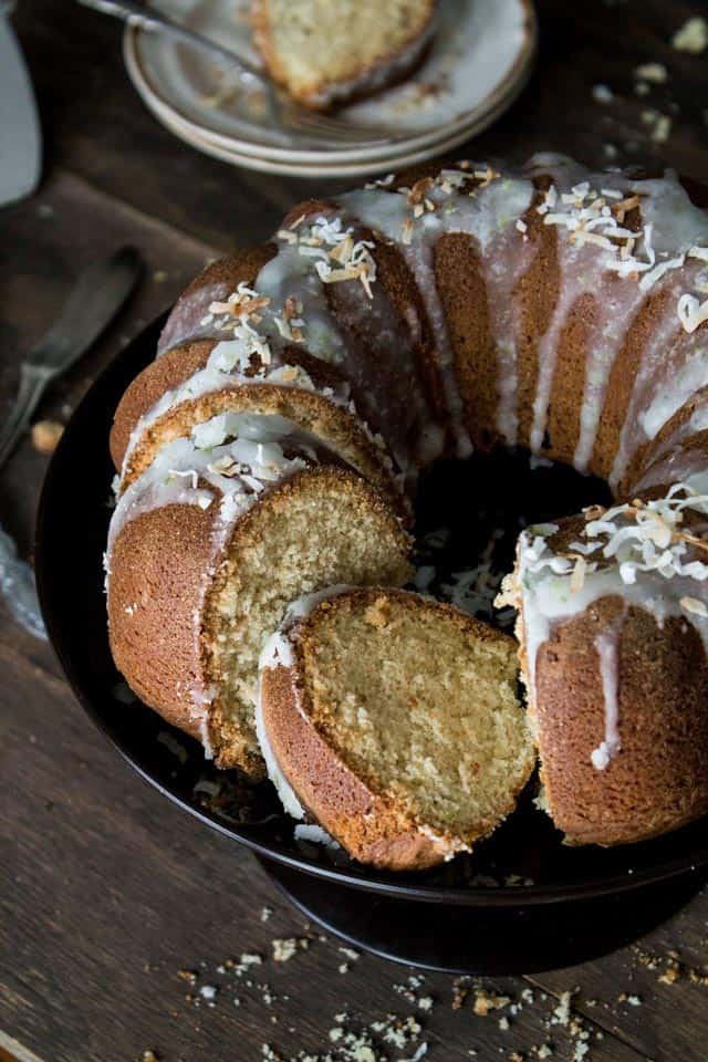 Coconut Lime Cake | www.diethood.com | This Coconut Bundt Cake has a ...