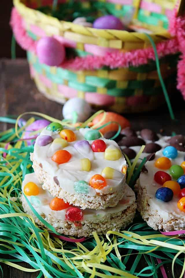 easter krispies wp Easter Rice Crispy Treats