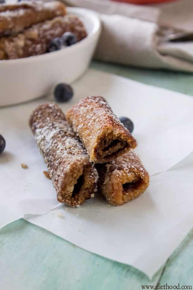 Nutella French Toast Rollups | www.diethood.com | These Nutella French ...