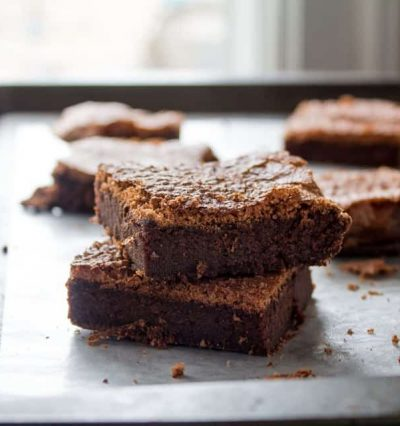 2-Ingredient Nutella Brownies | www.diethood.com | Eggs and Nutella are all you will need to make these delicious brownies | #recipe #dessert #glutenfree #nutella #chocolate #brownies