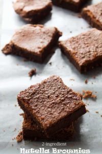 2-Ingredient Nutella Brownies   The BEST Gluten Free Brownies Recipe