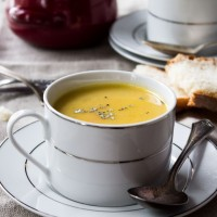 Parsnip and Potato Soup | www.diethood.com | A recipe for a homemade, creamy, slightly sweet, Parsnip and Potato Soup | #recipe #soup #dinner #parsnips #potatoes