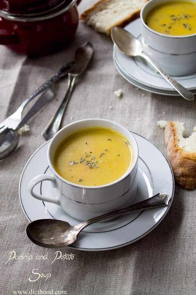 Creamy Parsnip And Potato Soup Easy Homemade Soup Recipe