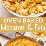 baked macaroni and cheese pinterest image