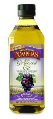 Photo of a bottle of Pompeian Grapeseed Oil