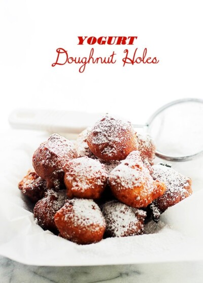 Yogurt Doughnut Holes - Tender and incredibly delicious yogurt doughnut holes that you can make at home in just 20 minutes!
