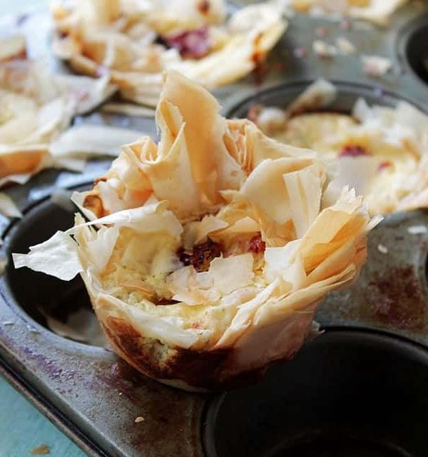 Sun-Dried Tomatoes & Cheese Cups | www.diethood.com | #recipe #appetizer #cheese