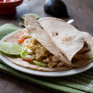 Fish Tacos with Creamy Lime Mustard Sauce