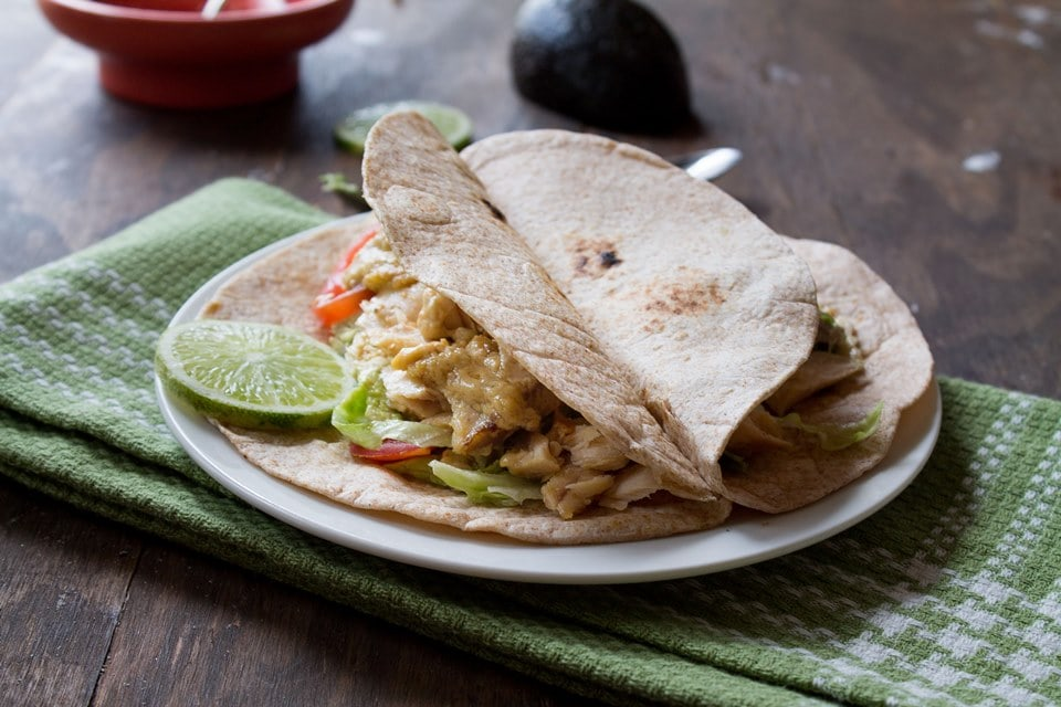 fish tacos 2 wp Fish Tacos with Creamy Lime Mustard Sauce