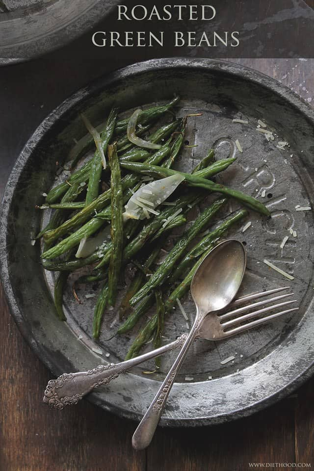 Roasted Green Beans | www.diethood.com