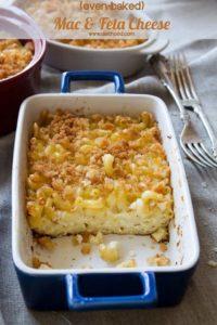 Oven Baked Macaroni and Feta Cheese