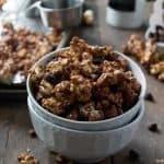 Salted Chocolate Caramel Popcorn | www.diethood.com | #popcorn #recipe #caramel #chocolate