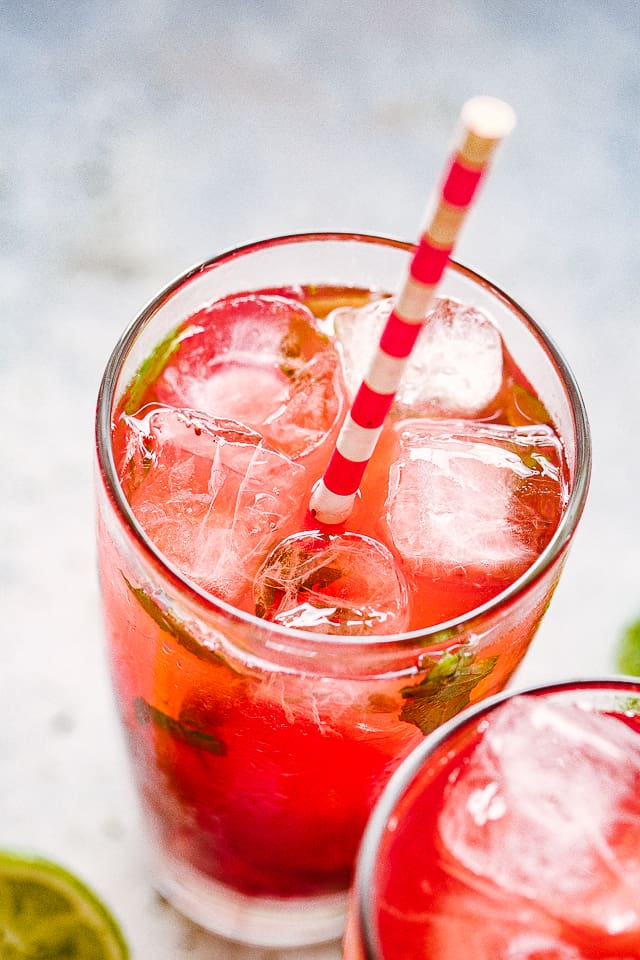 Strawberry Pomegranate Mojito Recipe