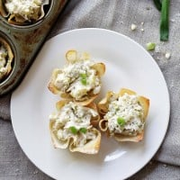 Chunky Chicken Salad Cups | www.diethood.com | A refreshing chicken salad mixed with pickles, mushrooms and sour cream | #recipe #memorialdayrecipes #salad #chicken