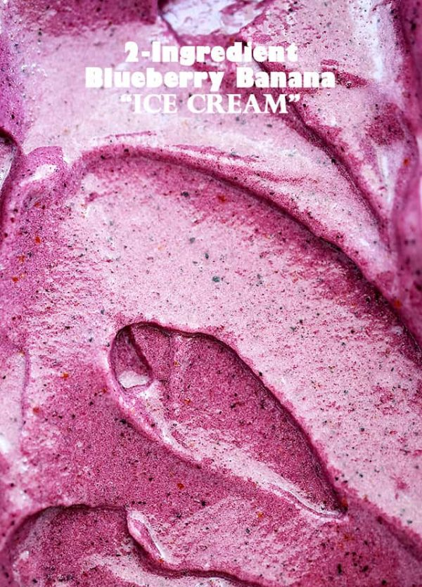 "Blueberry Banana ""Ice Cream"" (Nice Cream) - Instantly satisfy an ice cream craving with this quick, easy, and healthy recipe for a delicious Blueberry Banana ""Ice Cream"", also known as ""nice cream""."