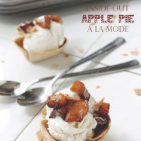 Inside-Out Apple Pie A La Mode | www.diethood.com | Scoop of vanilla ice cream nestled comfortably in a cinnamon-sugar tortilla, and topped with a homemade apple pie filling | #applepie #fourthofjuly #recipe #dessert