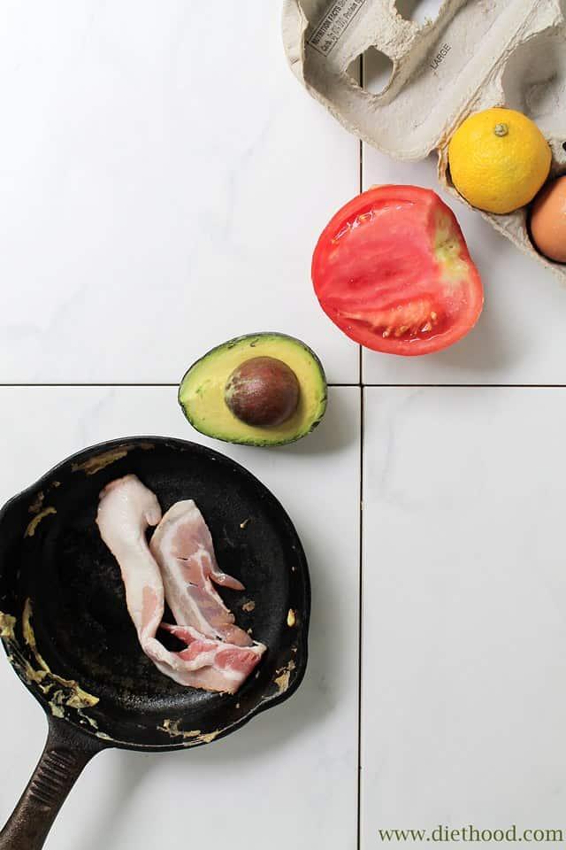 BLAT Omelette Diethood B.L.A.T. Omelette Wrap + Giveaway