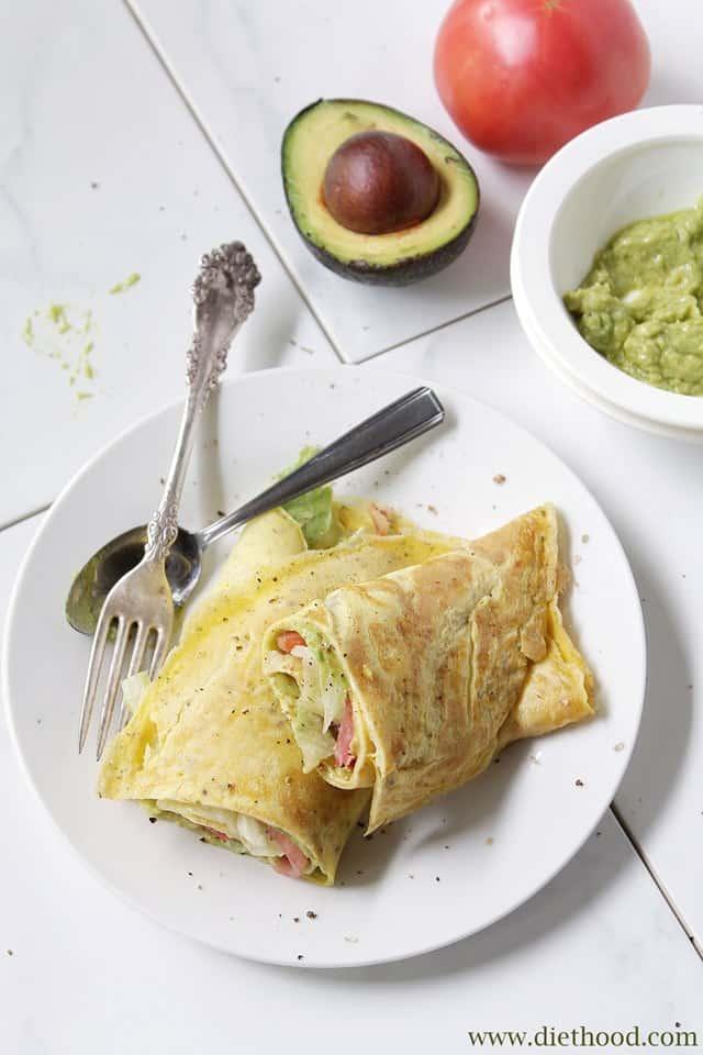 BLAT Omelette Wrap Diethood B.L.A.T. Omelette Wrap + Giveaway