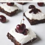 Black Forest Brownies | www.diethood.com | #recipe #brownies #blackforest #cherries