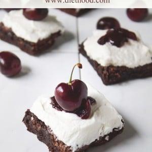 Black Forest Brownies | www.diethood.com | #recipe #brownies #blackforest #cherries