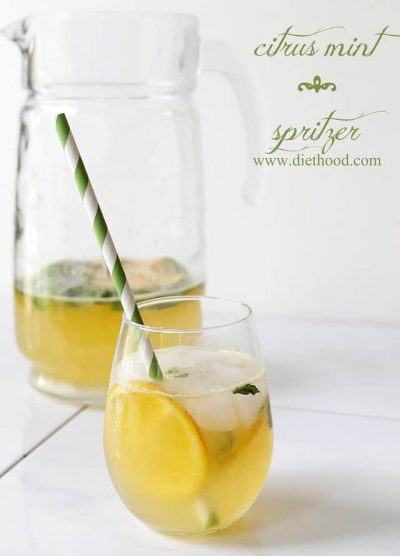 Citrus Mint Spritzer | www.diethood.com | #summer #drinks #spritzer #recipe