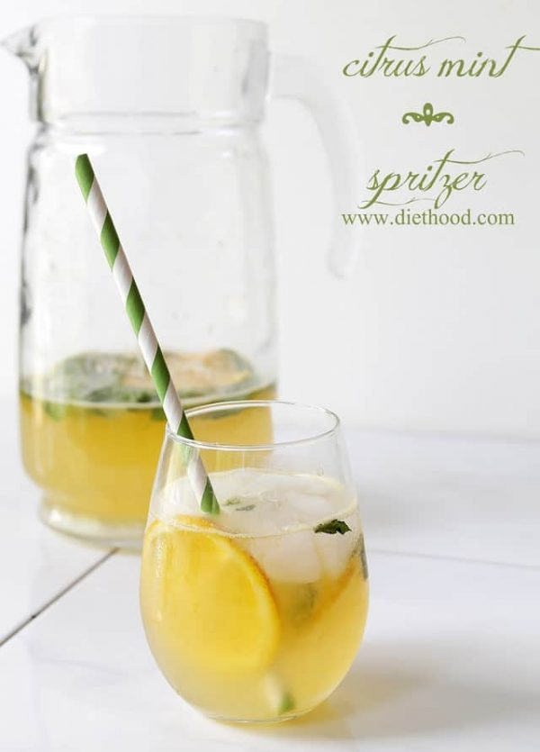 Citrus Mint Spritzer | www.diethood.com | #summer #drinks #spritzer #recipe