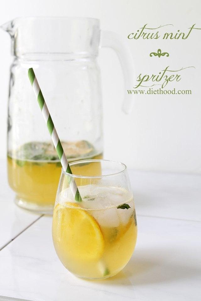 Citrus Spritzer Diethood Hibiscus Iced Tea Sparkler