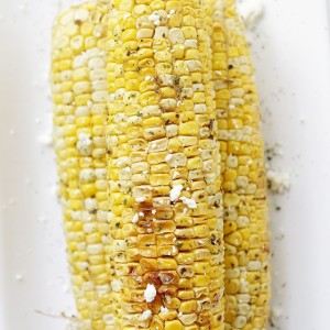 Grilled Corn with Herbed Butter   www.diethood.com   #grill #bbq #4thofjulyrecipes