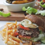 Garden Salad Feta Stuffed Burgers