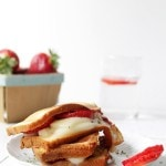 Grilled Strawberry Caprese Cakewich