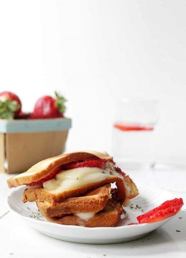 Grilled Strawberry Caprese Cakewich | www.diethood.com | #summer #recipe #dessert #cakewich #strawberries #tastesummer